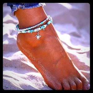 Jewelry - 🐠 Boho Turtle and Starfish Anklet 🐠